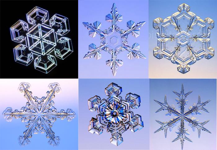 Почему у снежинки шесть лучей?